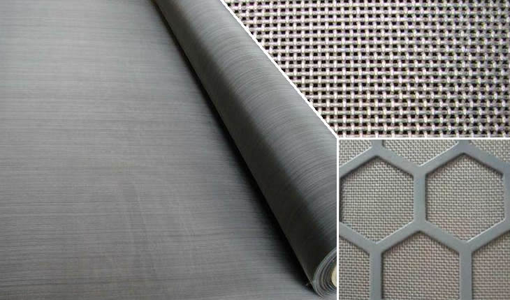 mesh to be fixed with perforated metal and steel frame for oil vibrating screen